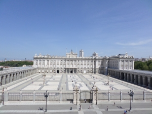 El Palacio Real from the Cathedral balcony