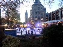 The random skating rink near Hyde Park