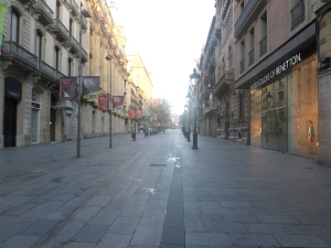 The streets of Barcelona by morning