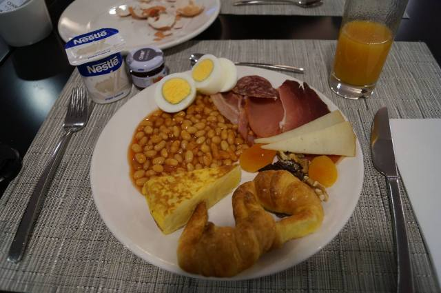Just some of the great hotel breakfast
